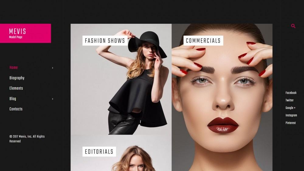 20+ Elegant Model Photo Portfolio & Model Agency WordPress