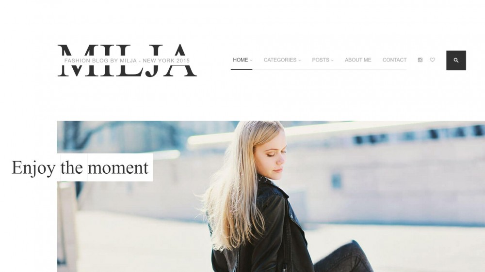 Milja - A Classy Fashion WordPress Blog Theme