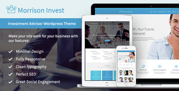 Morrison Invest | Investments, Business & Financial Advisor WordPress Theme