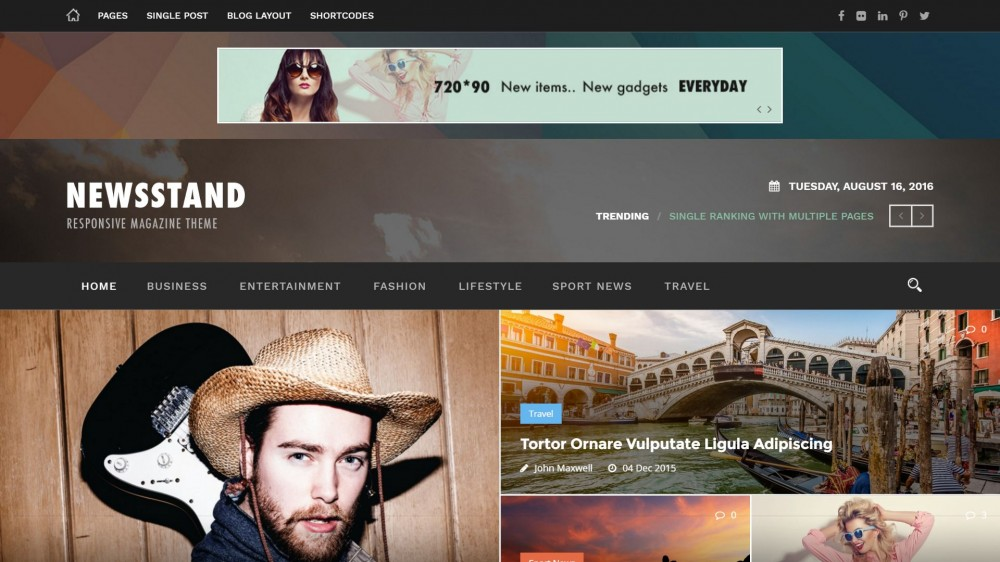 Newsstand – A Featured WordPress Theme