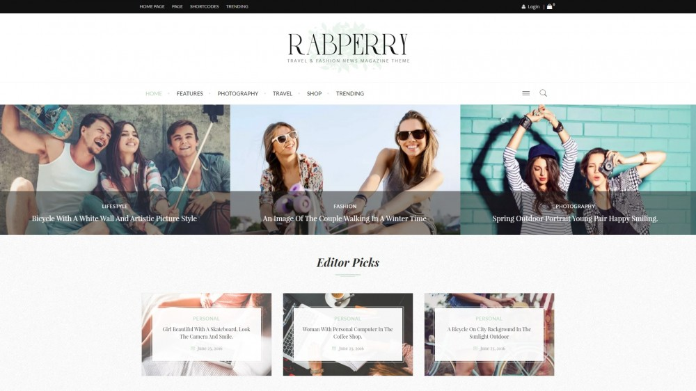 Raspberry Fashion WordPress theme