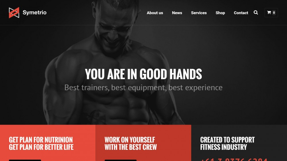 Symetrio - Responsive Fitness WordPress Theme