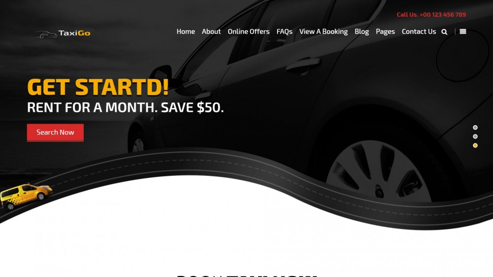 30+ Premium WordPress Themes for Taxi and Car Rental Business Websites