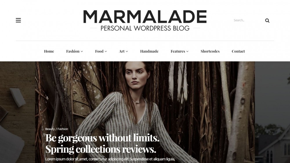 The Marmalade - WordPress Fashion Theme