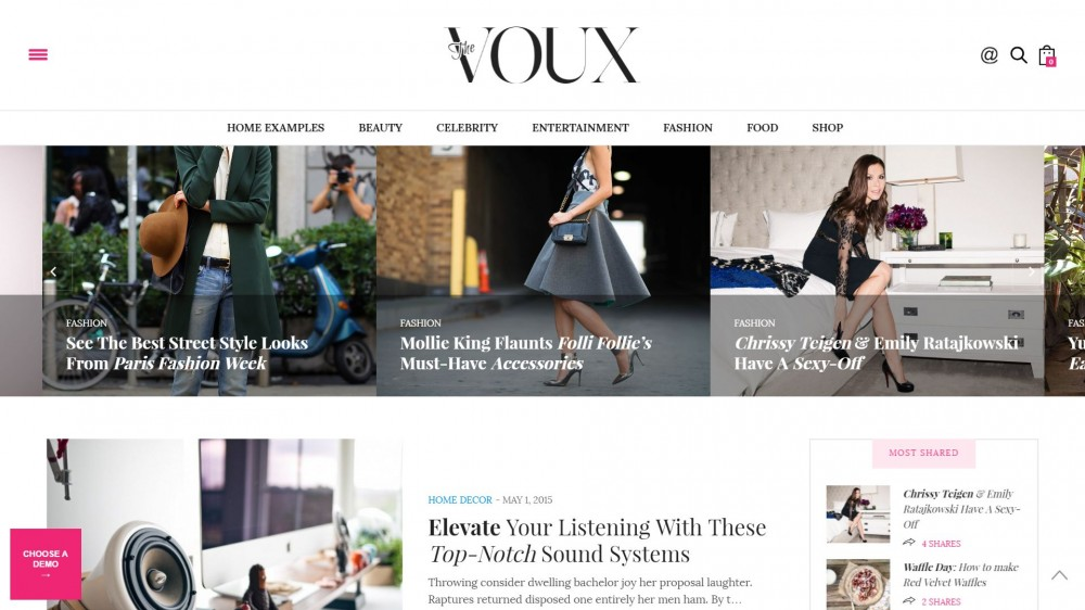 The Voux - A Comprehensive Wordpress Blog Theme