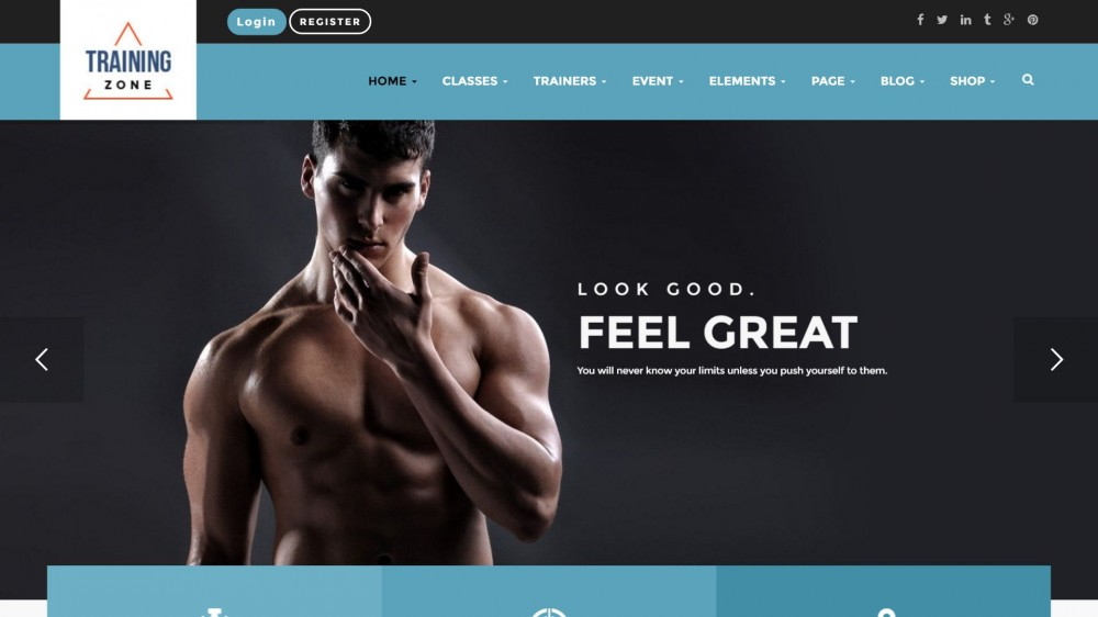 Training Zone - Gym & Fitness WordPress Theme
