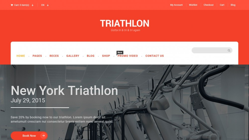 Triathlon - Sports & Gym WordPress Theme