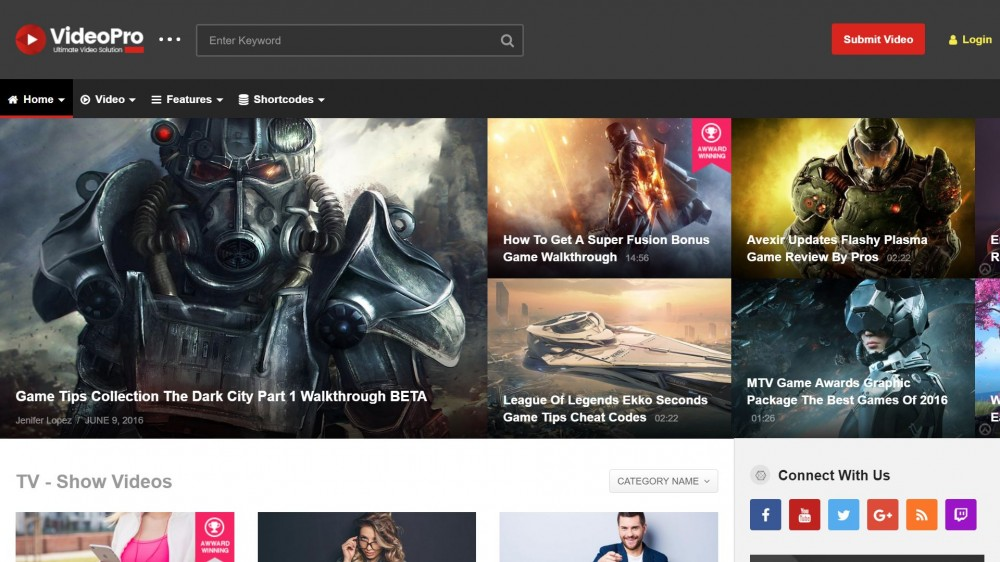 20+ Most Powerful Gaming WordPress themes for Gaming