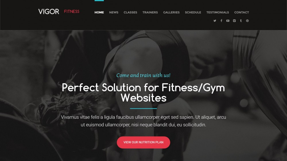 Vigor - Gym & Fitness WordPress Theme