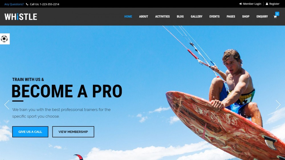 Whistle - Sport & Gym WordPress Theme
