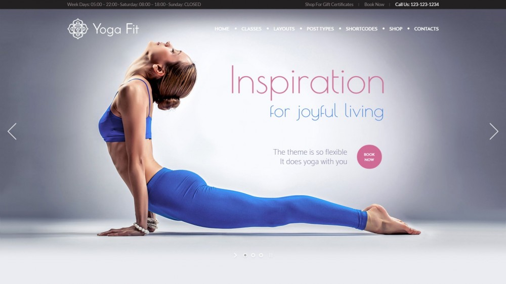 Yoga Fit - Sports & Gym WordPress Theme