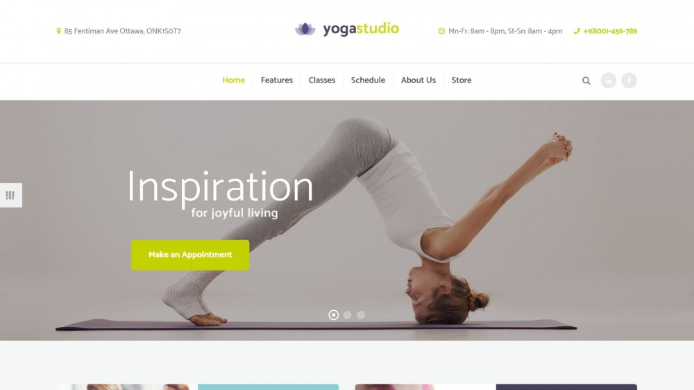 Yogastudio - Yoga & Healthcare WordPress Theme