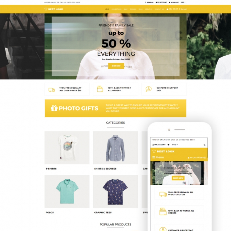 Best Look - T-Shirt Responsive Shopify Theme
