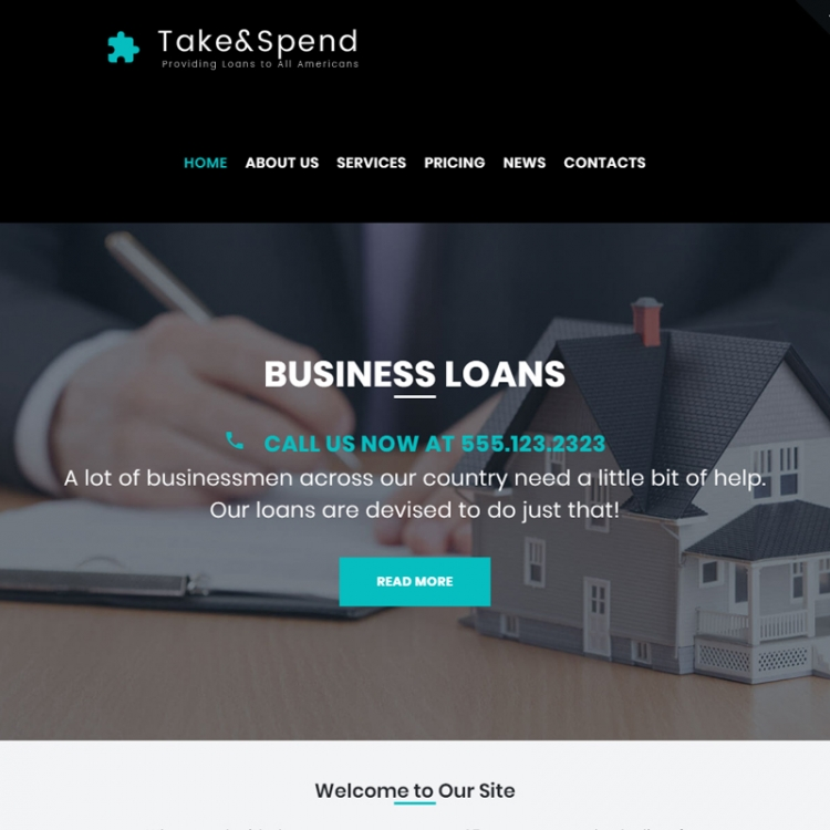 Take & Spend - Loans and Mortgages WordPress Theme