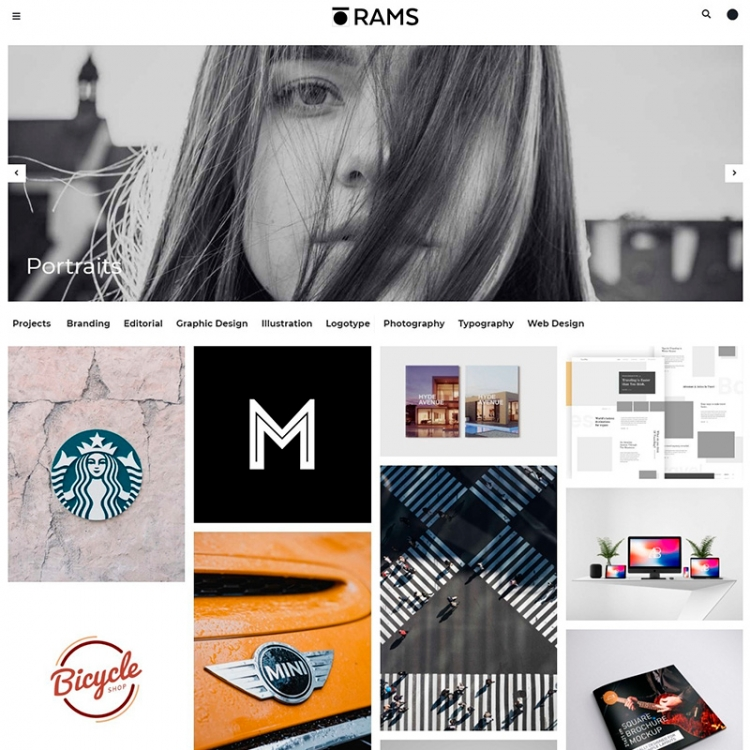 15+ Horizontal Scroll Photography themes for 2018