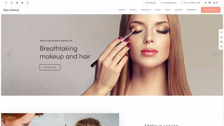 45 Make Up Artists WordPress Themes