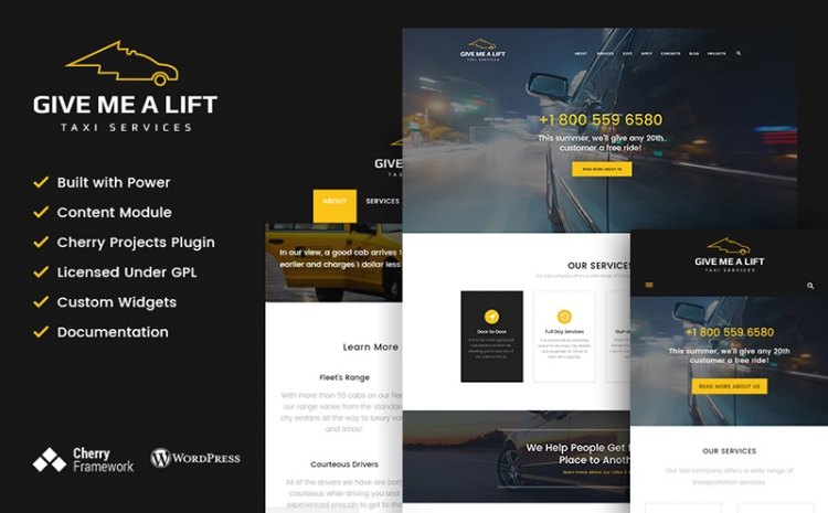 30+ Premium WordPress Themes for Taxi and Car Rental