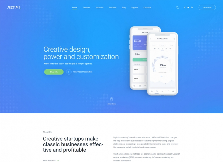 ProStart | Startup & Corporate WordPress Theme
